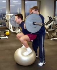 Squat on ball